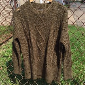 Lucky Brand Distressed Sweater size M